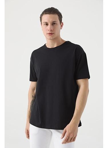 TWN Oversize Düz T-Shirt Siyah
